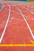 stock photo of track field  - Running track  - JPG