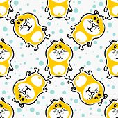 picture of hamster  - Cute hamsters on a white background - JPG
