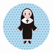 foto of nun  - Pastor And Nun Theme Elements - JPG