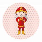 image of fireman  - Fireman Theme Elements - JPG