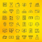 pic of internet-banking  - Bank Banking and Finance Business Line Big Icons Set - JPG