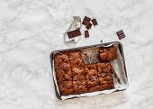 pic of brownie  - chocolate brownie - JPG