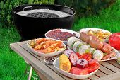 picture of bbq party  - Close - JPG