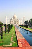 stock photo of mausoleum  - Taj Mahal mausoleum in Agra - JPG