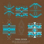 foto of aztec  - Vector Tribal elements ethnic collection in aztec stile for your business - JPG