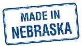 foto of nebraska  - made in Nebraska blue square isolated stamp - JPG