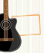 picture of acoustic guitar  - Banner with an acoustic guitar - JPG