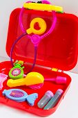 stock photo of vivid  - Colorful and vivid medical equipment toy for children - JPG
