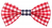image of bow tie hair  - Red white and blue plaid bow tie - JPG