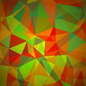 stock photo of polygon  - Abstract Geometric Polygonal Background - JPG