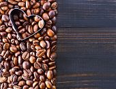 picture of coffee coffee plant  - coffee background coffee beans on a table - JPG