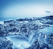 pic of crimea  - sea coats and sky in Crimea beach in Crimea - JPG