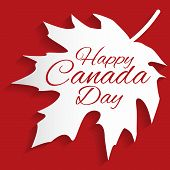 stock photo of happy day  - Happy Canada Day card in vector format - JPG
