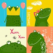 stock photo of amusement  - Amusing vivid baby animals illustrations for children - JPG
