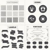 pic of holiday symbols  - Seamless patterns - JPG