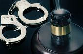 stock photo of cuff  - Legal judgement handed down  - JPG