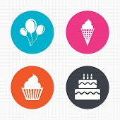 picture of ice-cake  - Circle buttons - JPG