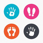 foto of barefoot  - Circle buttons - JPG