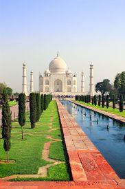 stock photo of mumtaj  - Taj Mahal mausoleum in Agra - JPG