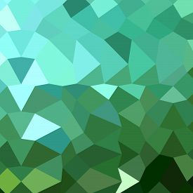 stock photo of dartmouth  - Low polygon style illustration of dartmouth green abstract geometric background - JPG