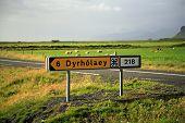 Dyrholaey Tourist Signpost poster