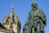 stock photo of barter  - Statue of the Scottish Enlightenment economist and philosopher Adam Smith  - JPG