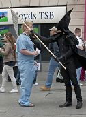 The Grim Reaper attacks a hospital worker.