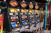 stock photo of slot-machine  - Slot machine in a casino on a cruise ship - JPG