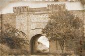 Постер, плакат: Старение фотографии Ени Кале ворот древняя крепость в Керчь Украина