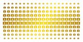 Business Case Icon Gold Halftone Pattern. Vector Business Case Items Are Organized Into Halftone Arr poster