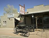 A Wagon At The O.K. Corral, Tombstone, Arizona