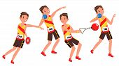 Athletics Player Male Vector. Athletic Sport Competition. Sports Equipment. Sprinter. Sprint Start.  poster