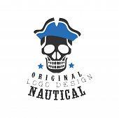 Nautical Logo Original Design, Retro Emblem For Nautical School, Sport Club, Business Identity, Prin poster