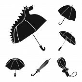 Isolated Object Of Weather And Rainy Symbol. Set Of Weather And Rain Vector Icon For Stock. poster