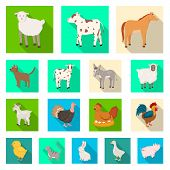 Vector Illustration Of Breeding And Kitchen Icon. Collection Of Breeding And Organic Stock Symbol Fo poster