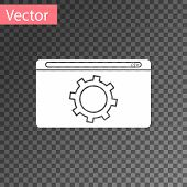 White Setting Icon Isolated On Transparent Background. Adjusting, Service, Maintenance, Repair, Fixi poster