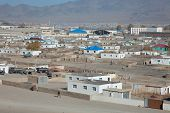 stock photo of bator  - top view of the ordinary Mongolian city of northern and central Mongolia - JPG