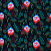 Floral Techno Glitch Surreal Flower Pattern Swatch poster