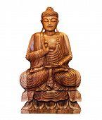 pic of siddhartha  - buddhist statue of Buddha isolated on white - JPG
