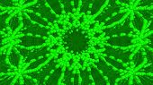 Hypnotic Green Background From Many Bubbles And Abstract Particles, Computer Generated. 3d Rendering poster