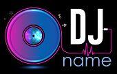 Dj Logo Design. Creative Vector Logo Design With Vinyl Record. Music Logotype Template. For Accessor poster