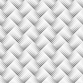 Geometrical Seamless Square Pattern Background - Abstract Black And White Vector Graphic Design From poster