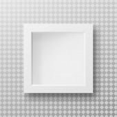 White Realistic Square Empty Picture Frame On Transparent Background. Blank White Picture Frame Mock poster