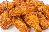 foto of chicken wings  - chicken wings close view isolated on white - JPG