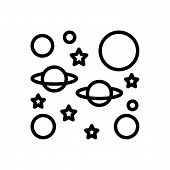 Black Line Icon For Limitless Infinite Endless Unbounded Unlimited poster