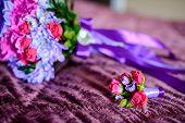 Bouquet Of Flowers. The Brides Bouquet. Bridal Bouquet. Florists. poster