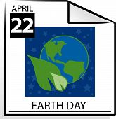 Calendar Page Earth Day poster