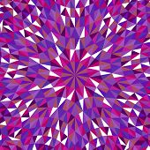Dynamic Colorful Tiled Triangle Mosaic Background - Hypnotic Abstract Circular Psychedelic Vector Gr poster