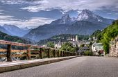 stock photo of bavarian alps  - Berchtesgaden landscape and Watzmann mountain - JPG