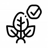 Plant Access Mark Icon Vector. Outline Plant Access Mark Sign. Isolated Contour Symbol Illustration poster